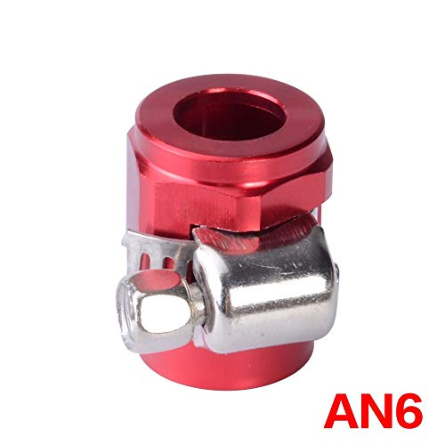 HANLING - olie-brandstof slangklem Finisher HEX Finisher Red aluminium slangconnector AN6 slangklemmen