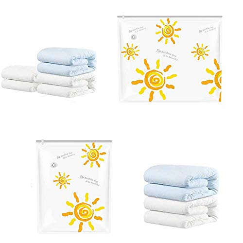 Vacuum Storage Bags /Vacuum Compressed Storage Saving Bags,Reusable Space Saver Compressed Air Bag,for Clothes, Quilts, Duvets, Pillows, Blankets for Travel Moving Home Compressed Bag