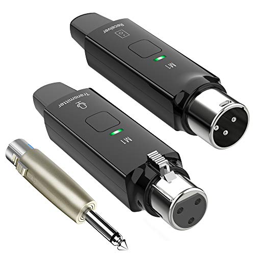LEKATO 2.4GHz Rechargeable Microphone Wireless System for Dynamic...