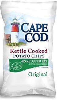 Cape Cod Reduced Fat Potato Chips, 8-Oz Bags (Pack of 12)