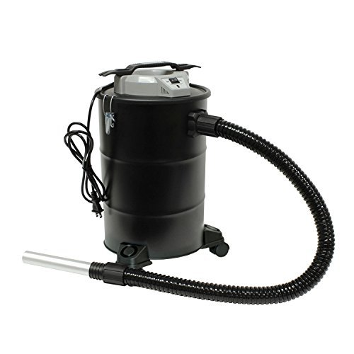 ALEKO ETL Approved Multi-Purpose Dust and Ash Vacuum for Fireplace Pellet Stove Smoker – Steel Body – 5 Gallons