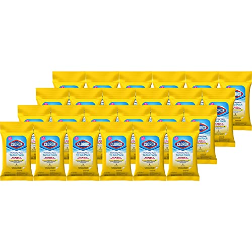 Clorox Disinfecting Wipes On The Go, Bleach Free Travel Wipes, 9 Ct,...