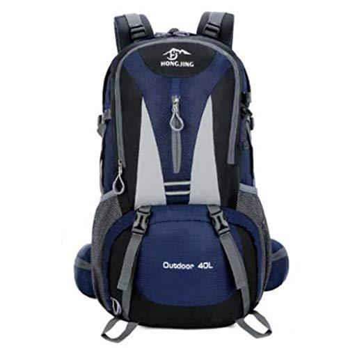 WGKUMMQN Wandelrugzak voor heren en dames, outdoor, bergbeklimmen, waterdicht, grote laptop, camping, ski, multifunctionele rugzak 60L Dark Blue