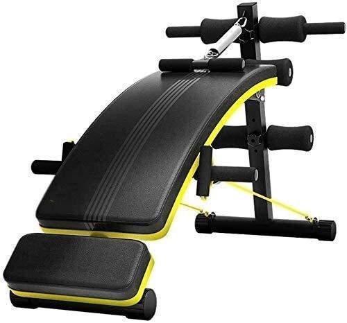 MUZIDP Banco de pesas para entrenamiento en el hogar Banco de gimnasio ajustable Banco multifuncional abdominal para ejercicios abdominales