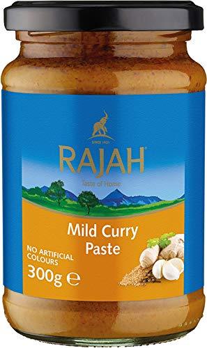 Rajah Currypaste – Milde Gewürzpaste für authentische Curry-Gerichte – Ideal zum Würzen von Fleisch, Fisch oder Gemüse – 1 x 300 g