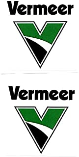 Vermeer machinery 2 Sticker Bundle. Hardhat/Decals. Great for the Roughneck, Oil Worker, Construction Worker. Looks great on a Helmet, Lunchbox, or Toolbox.
