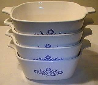 Vintage Corning Ware Cornflower Blue Individual Casseroles - P-41 - Set of 4