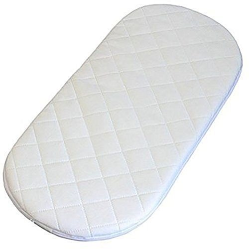 All Sizes Oval Shaped Round Corners Soft Moses Basket/PRAM Quilted MATTRESSES (70 x 30 x 3 cm)