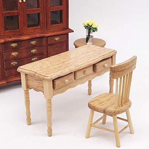 Amazon.es: KEYREN Mesa de casa de muñecas Muebles en Miniatura ...