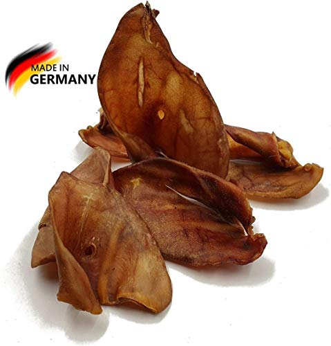 50 Schweineohren ca. 2,5 Kg | Deutsche Herstellung | Kauartikel | Hundesnack