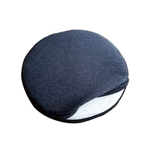 Ogquaton Cojín redondo para silla de salón, dormitorio, gris, creativo y útil