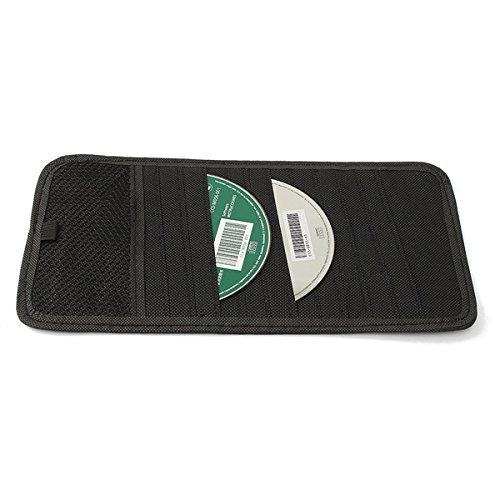 MOMOALA Alamor 12 Disque Capacité CD Voiture Pare-Soleil Stockage DVD Porte Noir Poche