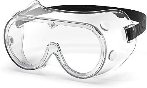 ORSEN Gafas protectoras gafas de campo completo antivaho anti-sellado gafas de protección para los ojos gafas transparentes gafas de arco laboratorio médico química niños adultos(1 Pack)