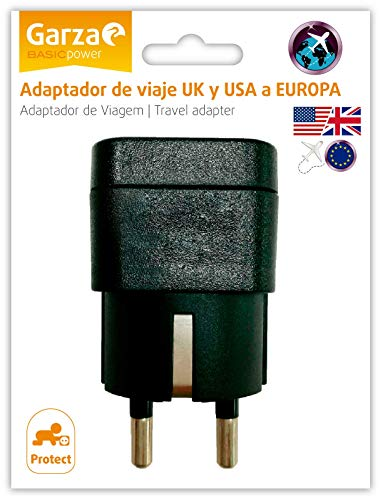 Garza - Adaptador de viaje USA UK Europa, 1 toma de enchufe,...