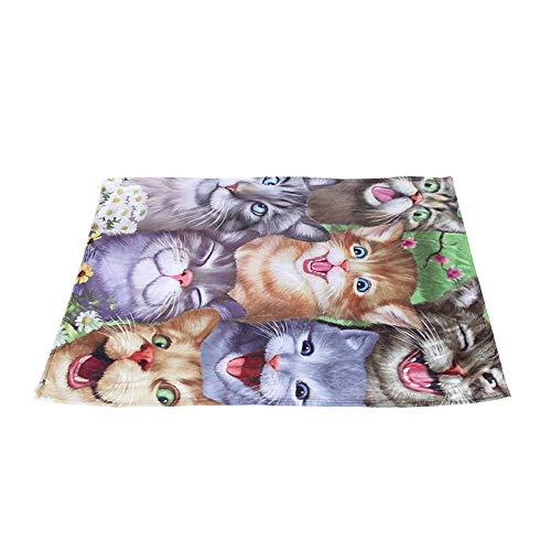 NATRUSS Waschbar Schöne Katze Muster Warme Tier Pad Haustier Matte, Haustier Pad, für Hunde Katzen(150 * 200cm)