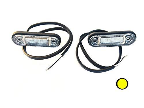 2x LED Umrissleuchte Gelb 78x18x22 Begrenzungsleuchte 12V 24V LKW Anhänger SET