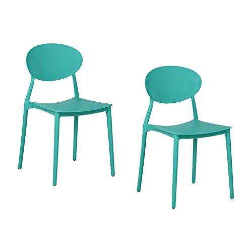 MEGA lot de 2 chaises en PP empilable 48x48x81cm VERT