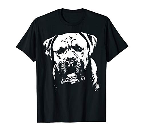 Hundeliebhaber-Boxer-Gesicht T-Shirt | Geschenk-T-Stück für