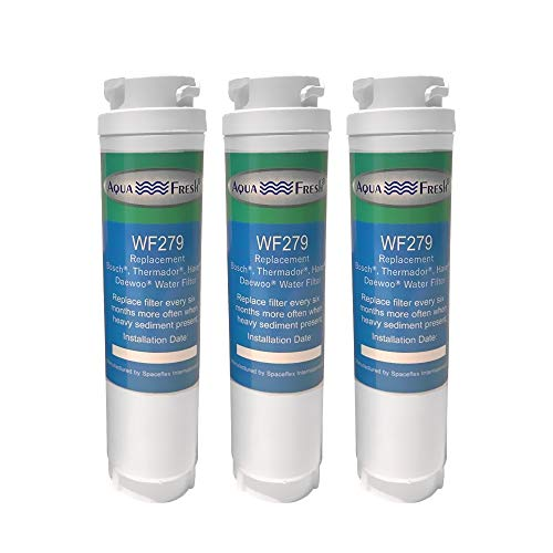Aqua Fresh Ultra Clarity Replacement Water Filter Compatible With Bosch 644845, 9000077104, 9000194412, 0060820860, 0060218744, KWF1000 (3 Pack)