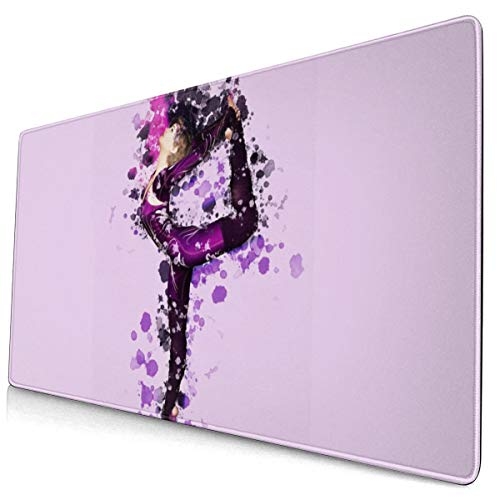 Yoga Pilates Picnicnon-Slip Rubber Mousepad Custom Rectangle Mouse Pads For Computers Laptop Mouse Pad 15.8x29.5 In Black One Size