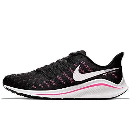 Nike Air Zoom Vomero 14 Men's Running Shoe Black/Platinum Tint-Pink Blast 12.5
