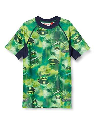 Lego Wear Jungen Lwtobias Ninjago Uv Schwimmshirt Lsf 50 Plus Badehose, Grün (Green 869), (Herstellergröße: 116)