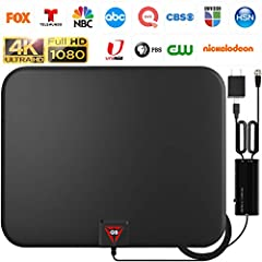 ✔️FULL HD CHANNELS: With UPGRADED 2020 TV antenna no more need to pay a HUGE bill on TV. Our HD antenna can receive FULL HD Channels like ABC, CBS, NBC, PBC, Fox and SO MUCH MORE. With amplified tv antenna start to access all of the news, sitcoms, ki...