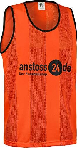 ELF Sports Leibchen mit Druck 'anstoss24.de', Farbe:Orange, Größe:M-L