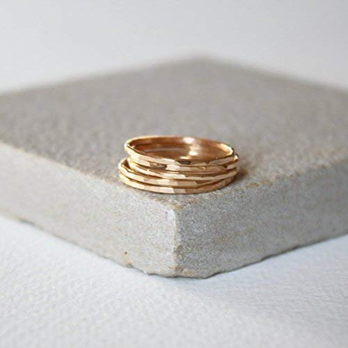 Gold Skinny gold fill ring set, thin gold ring, stacking ring, delicate jewellery, dainty ring