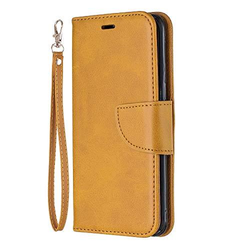 Lomogo Galaxy S8 / G950 Hülle Leder, Schutzhülle Brieftasche mit Kartenfach Klappbar Magnetverschluss Stoßfest Kratzfest Handyhülle Case für Samsung Galaxy S8 - LOBFE150208 Gelb