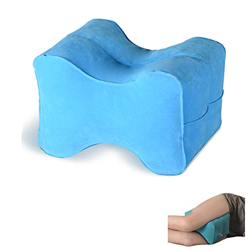 WEY&FLY Orthopedic Inflatable Knee Pillow, Support Cushion for Side Sleepers, Wedge Leg Pillow, Multi Position Use for Back, Leg, Hip, and Joint, Best in Comfort & Design for Women, Travel