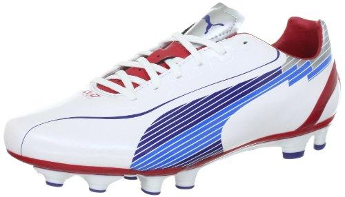 Puma evoSPEED 4 FG 102581, Herren Sportschuhe - Fußball, Weiss (white-limoges-ribbon red 01), EU 45 (UK 10.5) (US 11.5)