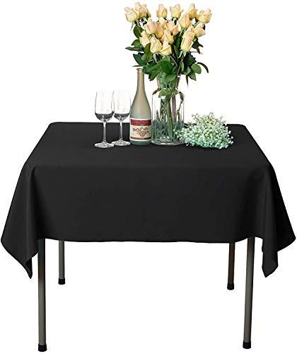 Namvo Mantel rectangular extragrande antimanchas, 140 x 200 cm, color negro