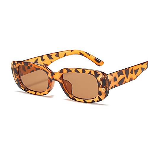 Tanxianlu Gafas de Sol cuadradas de Moda para Mujer, Gafas de Sol Vintage para Hombre, Marca de Lujo, diseñador, Personalidad, Tendencia, Gafas De Sol Femeninas,D