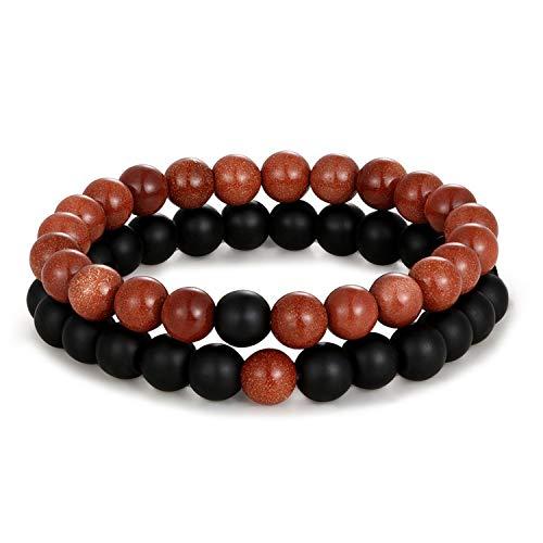 Pulsera Brazalete, Joyeria Regalo, Distance Bracelet White & Black Yin Yang Beads Bracelet For Women Men Couples Valentine's Day Jewelry Gifts R508