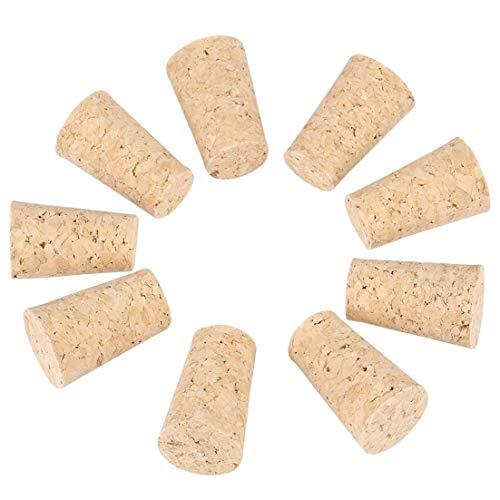 Insmart 10 Stück 2 Arten Wein/Bier Flaschenverschluss (22 * 17 * 35mm) Naturkorken Kegel Korken aus Holz