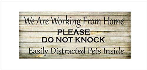We Are Working From Home, Do Not Knock, Easily Distracted Pets 5x12