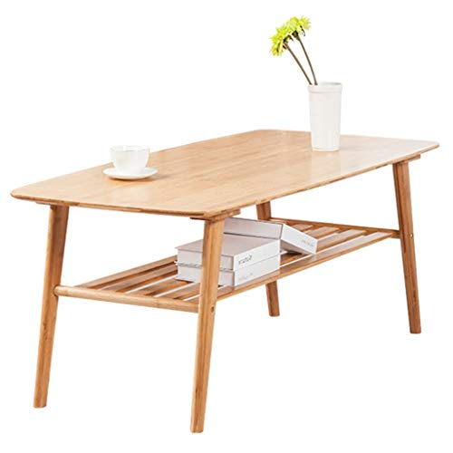 Tables de pique-nique Table Table Basse Simple en Bambou Table Basse Table pour Ordinateur Portable Style Nordique Salon Table À Thé Rectangulaire Brun Assemblage