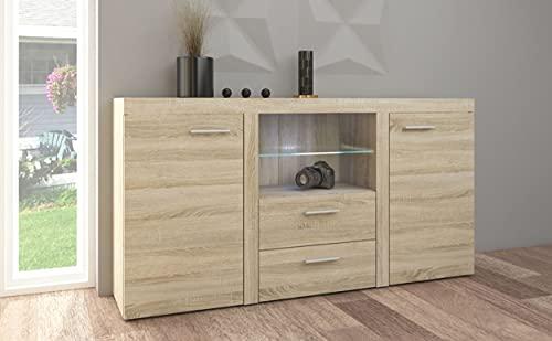 Küchen-Preisbombe TOP Kommode Sideboard Rumba Wohnwand Wohnzimmer Anbauwand Sonoma Eiche matt