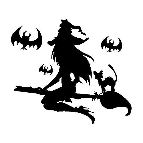 Lxixd Etiqueta de Halloween decoración Pintura Etiqueta de la Ventana asustadiza de la Bruja Etiqueta de la Pared de PVC Resistente a la Intemperie Etiqueta Decoración casera del Partido de Halloween