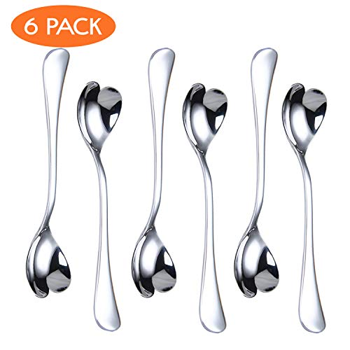 Sale!! HISSF Coffee Spoon Set, Stainless Steel Dessert Spoon for Tea, Cocktail, Sugar, Ice Cream,4...