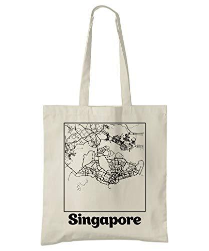 Super Cool Totes Singapur Stadtplan Einkaufstasche (Design 2)