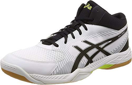 Asics Gel-Task MT Handballschuhe für Herren, Weiß - weiß schwarz hellgrau - Größe: 45 EU