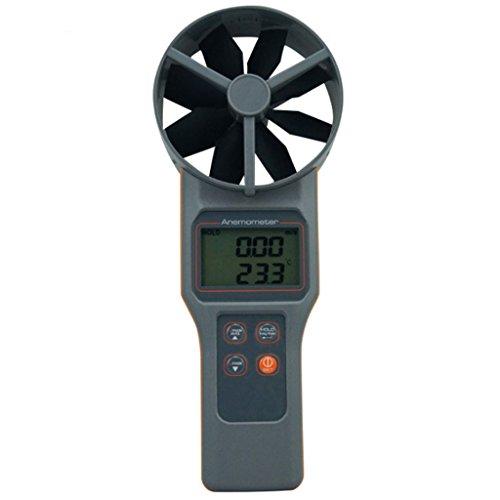 XQAQX Anemómetro Medidor de Velocidad Viento Aire El anemómetro Multifuncional Mide la Velocidad del Viento y el anemómetro de Humedad y Temperatura del dióxido de Carbono
