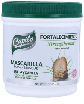 Capilo Sole and Cinnamon Strengthening Mask (240 ml Tub, 2-Pack); Mineral Oil Free, Petroleum Jelly Free