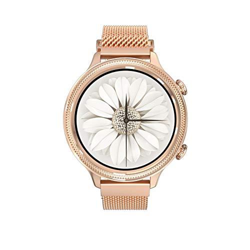 XYJNN Reloj Inteligente Mujer - Reloj Mujer Reloj Inteligente para Mujer, predicción del período Menstrual, Toque Completo de círculo Completo, Pulsera Inteligente, Regalo para Mujer (Color : Gold)