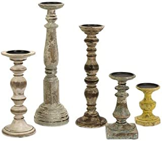 Best distressed pillar candle holders Reviews
