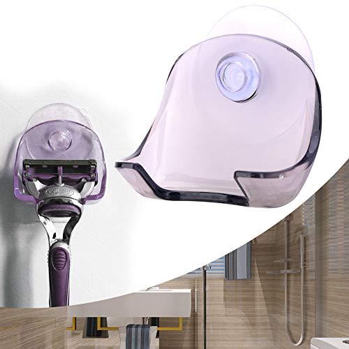Soporte para Maquinilla de Afeitar Máquina de Afeitar Colgador de Pared Ventosa Estante Barba Recortadora Accesorio Baño Hogar Salón Barbero Herramienta