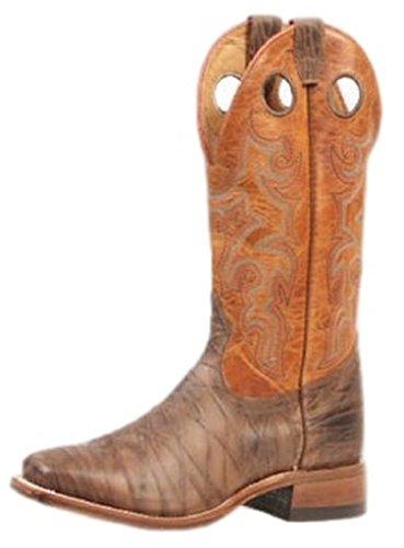 Botas Americanas–Botas de Cowboy Extra-légères bo-4746–65-EEE (pie Fuerte)–Hombre–marrón, Marrón (marrón), 46.5