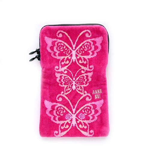 【ANNA SUI 】ファスナー付きタオル (ピンク) [綿100%] 婦人 ペットボトルケース 21cm ANNA SUI 109623-0201-01